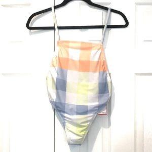 NWT Gossip Womens pattern one piece Swim Suit S